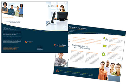 Tri Fold Brochure Sample | Etax Solutions
